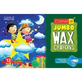 Camlin Kokuyo Colours Wax Crayons Jambo 12 Shades + 1 Glitter Crayons Free