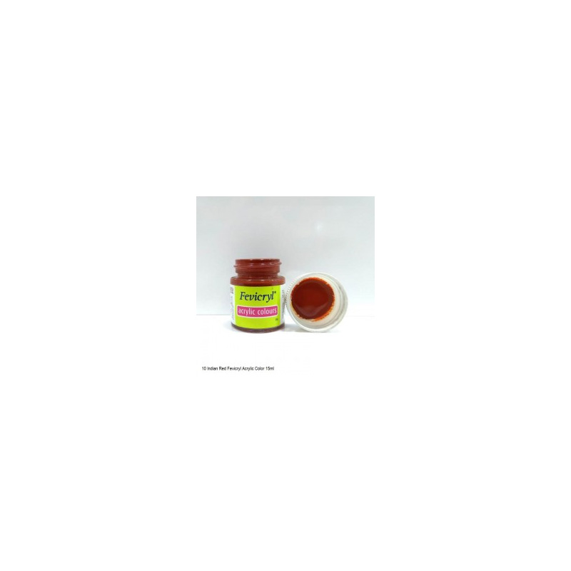 10 Fevicryl Acrylic Colours indian red