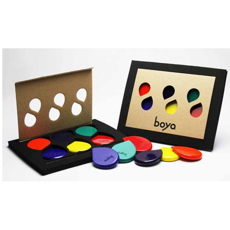 BOYA`S PACKAGING AND PRICING SIXSET, presenting RAINBOW SET
