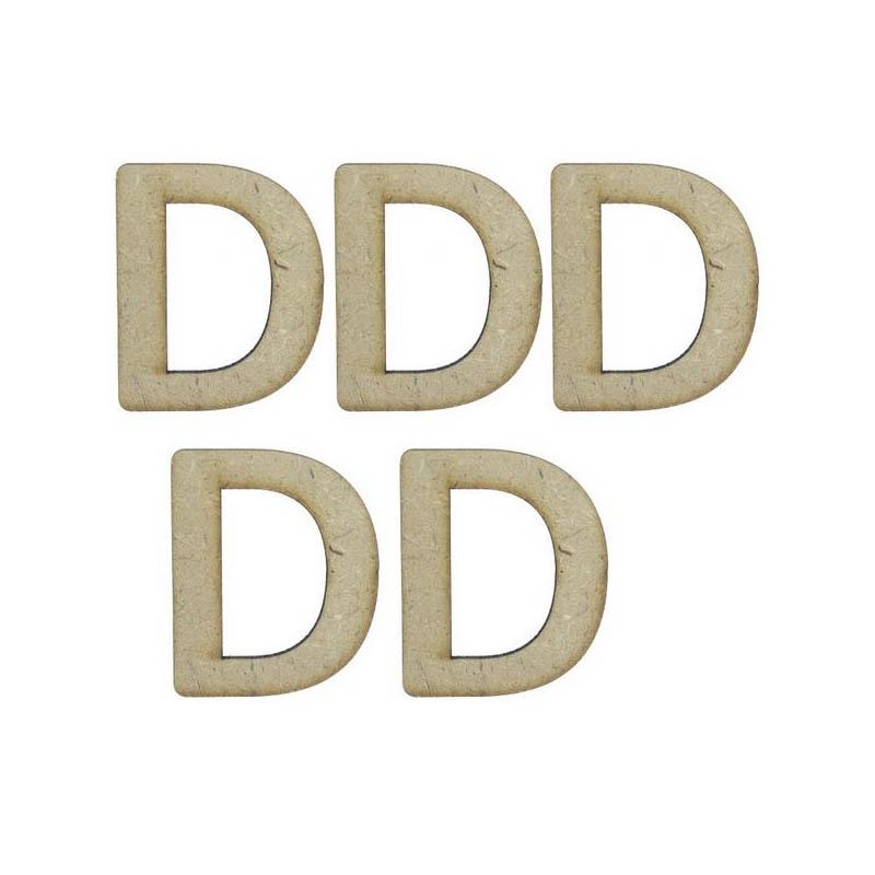 MDF Alphabet Letter D - 4Inch