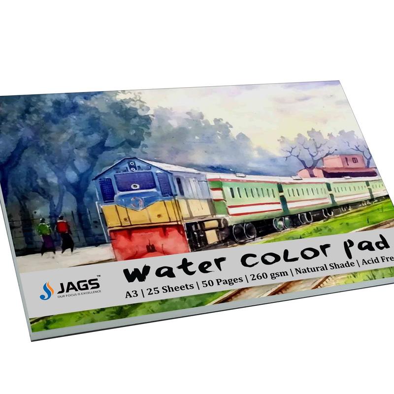 Jags Water Colour Pad A3 260gsm 25Sheet JWCPA300