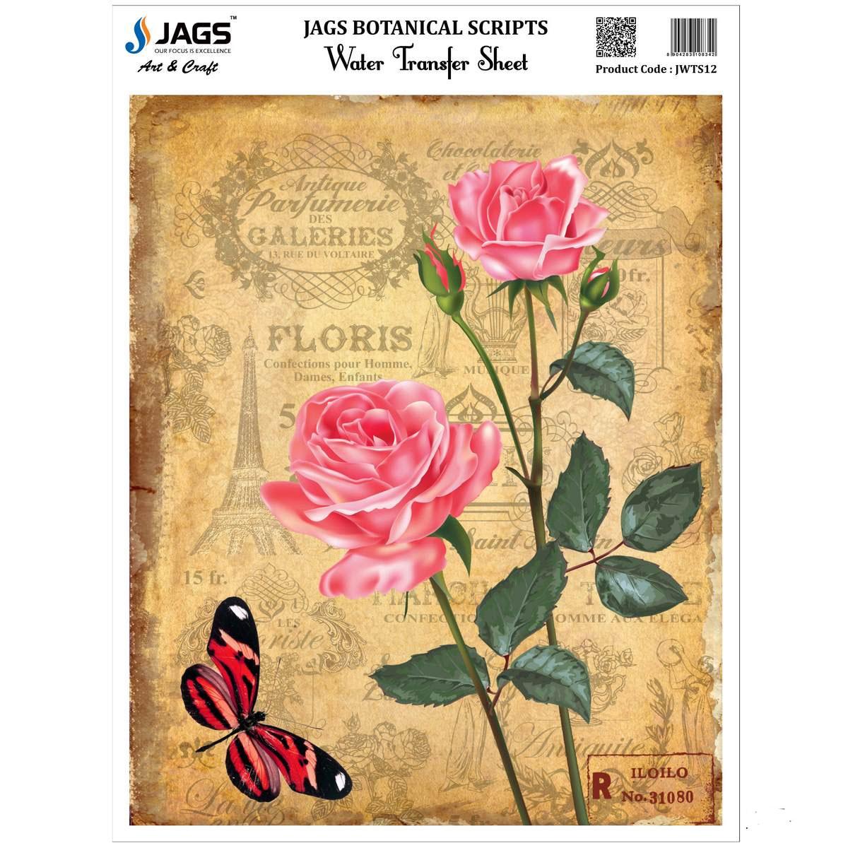 Jags Water Transfer Sheet Botanical Scripts JWTS12