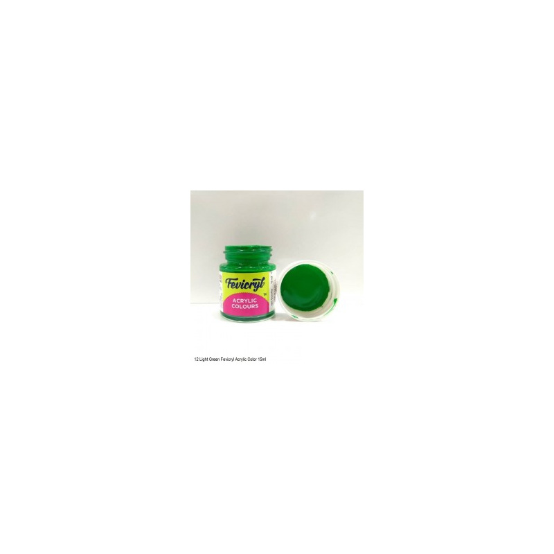 12 Fevicryl Acrylic Colours light green