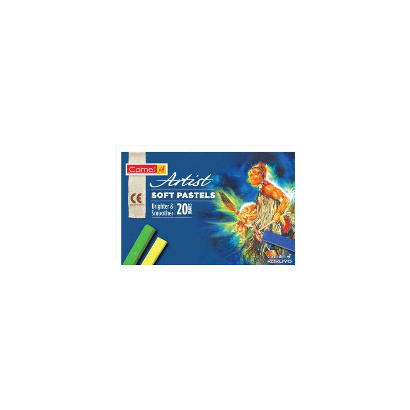 Camel Artist Soft Pastels - 20 Shades [ Brighter & Smoother ]