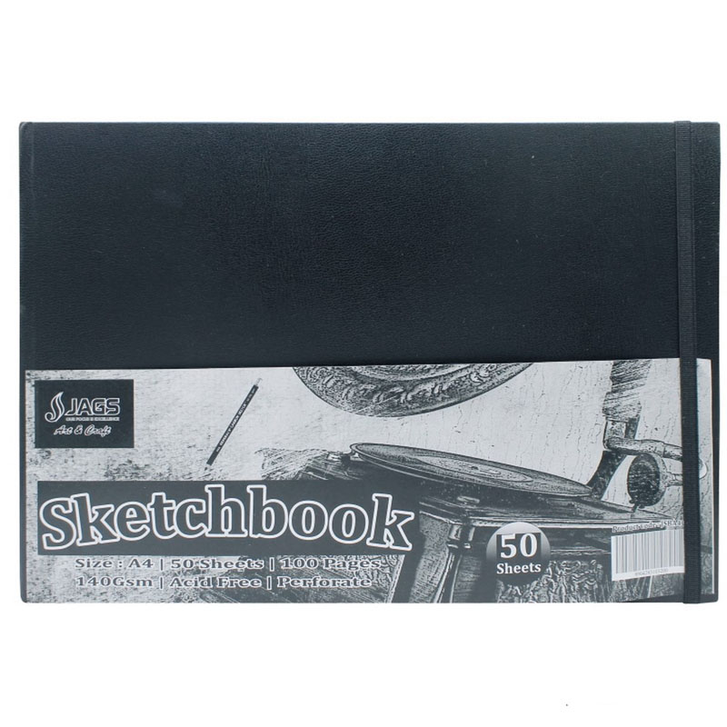 Jags Sketch Book H/B Bindig 100Pages 140Gsm JSBWA4