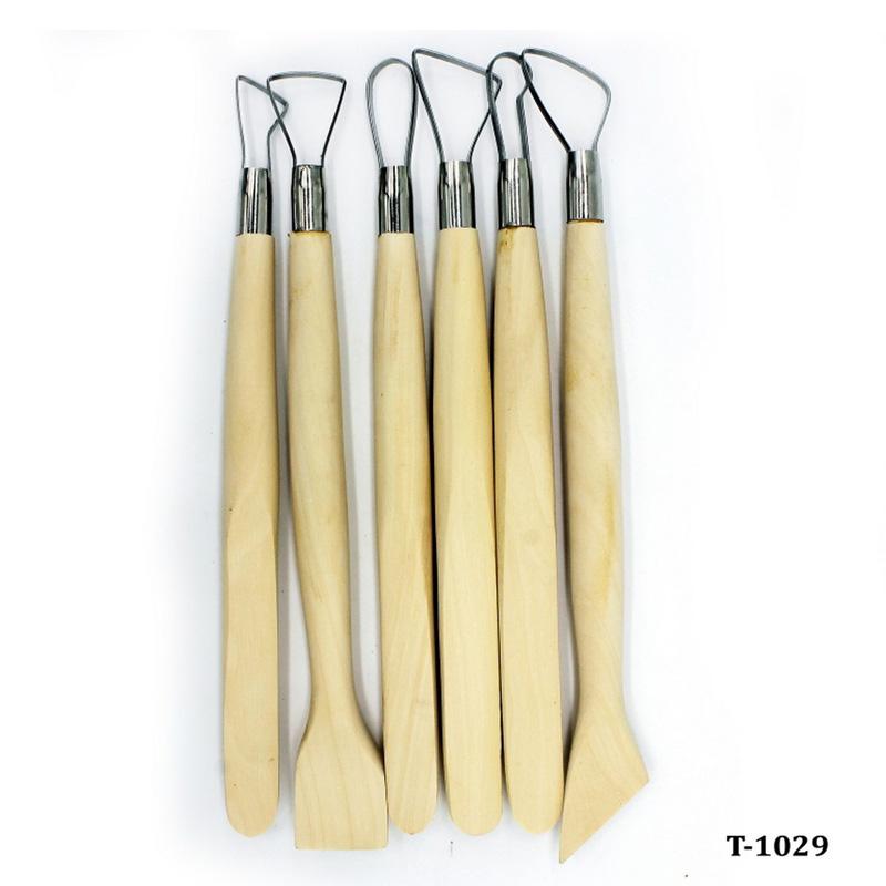 Craft Clay Tool Set 6pcs Wooden T-1029