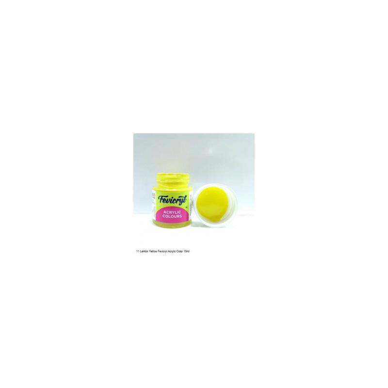 11 Fevicryl Acrylic Colours lemon yellow