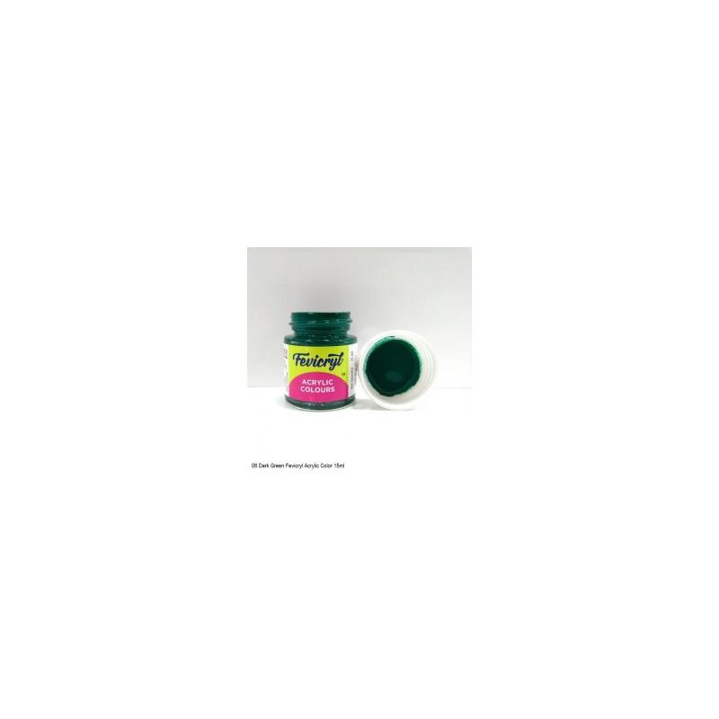 06 Fevicryl Acrylic Colours dark green
