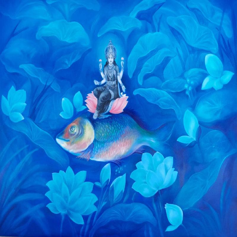 Godess Laxmi by Vijay Koul