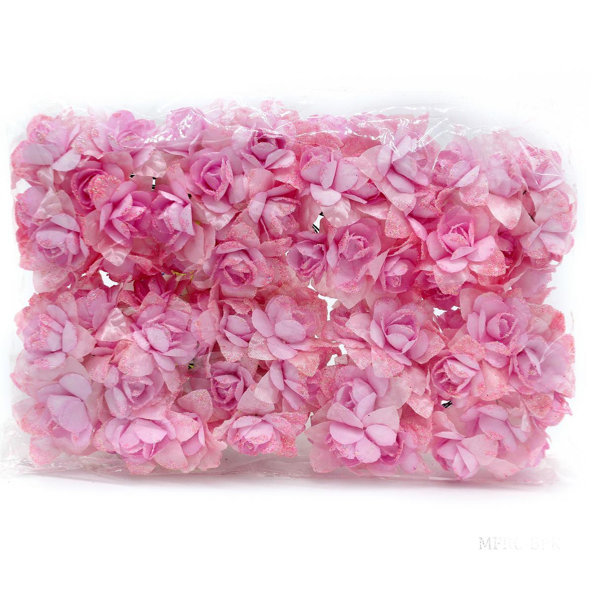 Cloth Flowres Rose 96Pcs Baby Pink MFRC-BPK