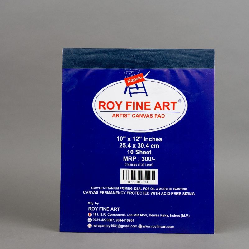 Roy Fine Art Canvas Pad 10by12 Inches