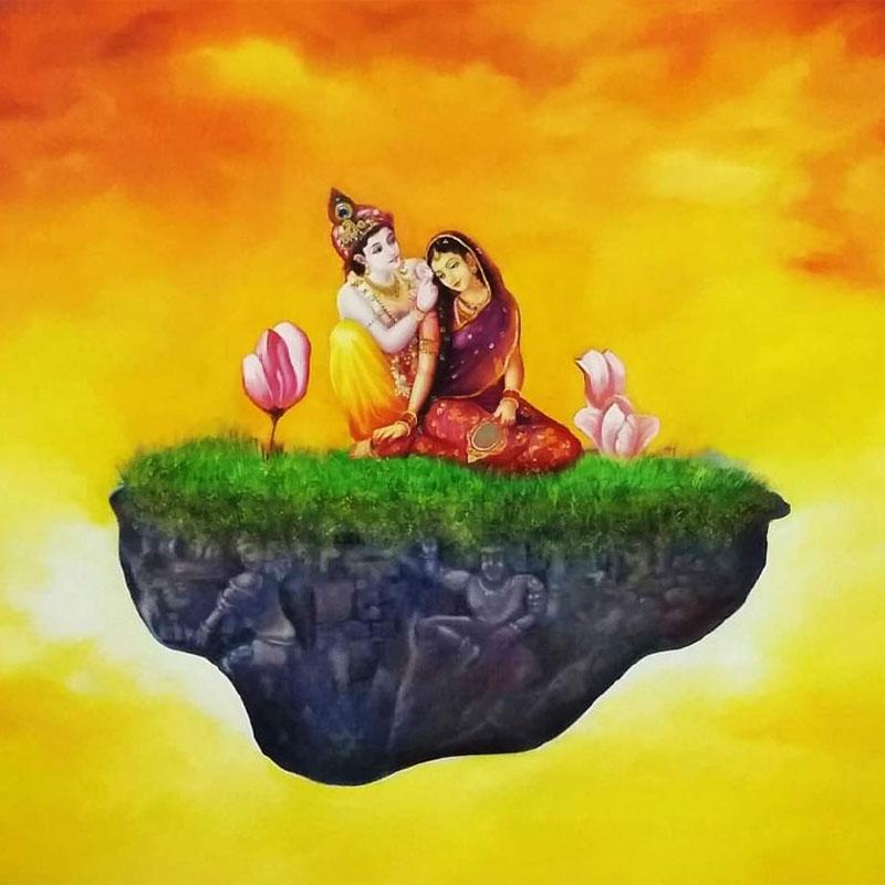 Radha Krishna by Vijay Koul