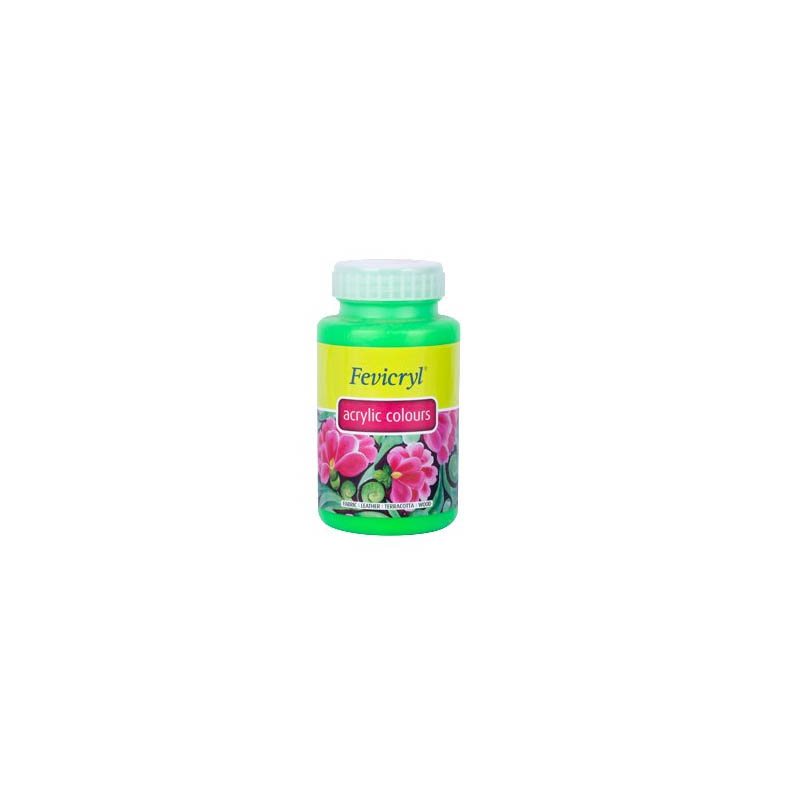Fevicryl High-Quality Acrylic Painting Color (Neon Green, 500ml)