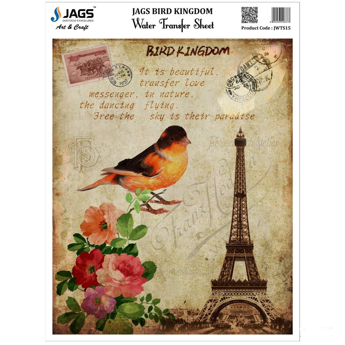Jags Water Transfer Sheet Bird Kingdom JWTS15