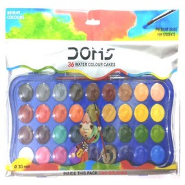 Doms Water Colour Cakes (Pack of 36 Shades)