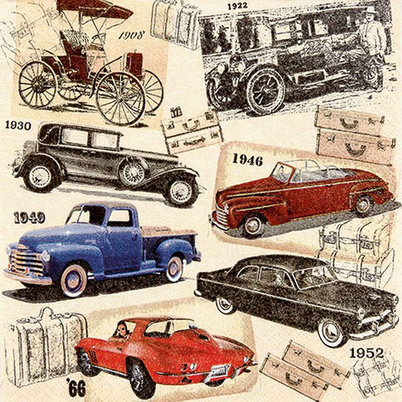 Tissue Paper 13*13inch Classic Cars 211625